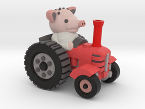 Peter the piglet and his tractor in Full Color Sandstone
