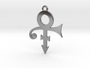 Prince Symbol 40mm V2 in Fine Detail Polished Silver