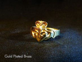 NOLA Claddagh, Ring Size 6.5 in White Natural Versatile Plastic