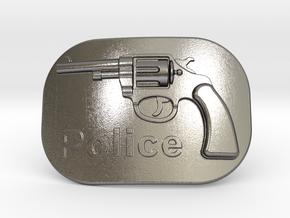 Colt Police Belt Buckle in Polished Nickel Steel