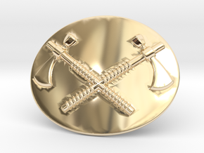 Tomahawk Belt Buckle in 14K Yellow Gold