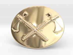 Tomahawk Belt Buckle in 14k Gold Plated Brass