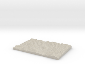 Model of Crested Butte in Natural Sandstone