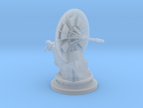 Dish Turret 1:48 in Smooth Fine Detail Plastic