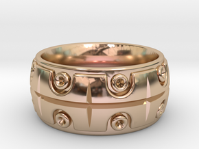 Union Ring Size 10.5 in 14k Rose Gold Plated Brass