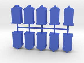 Game Piece, Phone Booth, 10-set in Blue Processed Versatile Plastic