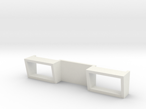 Bar Side Windows New in White Natural Versatile Plastic