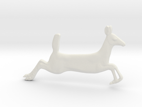 Running Fawn Pendant in White Natural Versatile Plastic