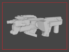 """""""ZONEFINDER"""" Transformers Weapon (5mm post) in White Natural Versatile Plastic"""