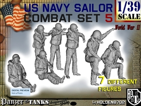 1-39 US Navy Sailor Set 5 in Smooth Fine Detail Plastic