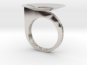 THE DISCK  in Rhodium Plated Brass: 6.5 / 52.75