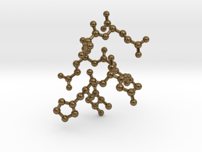 THERESE Custom Peptide Sequence Pendant in Natural Bronze