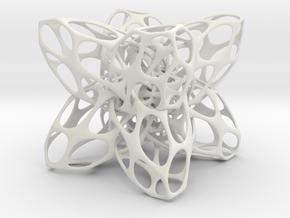 Entrelace2 in White Natural Versatile Plastic