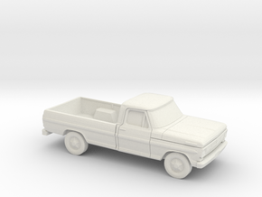 1/87 1967-69 Ford F-Series Reg in White Natural Versatile Plastic