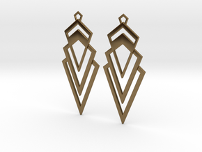 Art Deco Earrings - Valorous in Polished Bronze