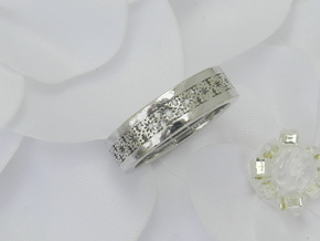 Lace Wedding Band in Polished Silver