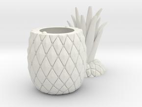 Pineapple Lamp in White Natural Versatile Plastic