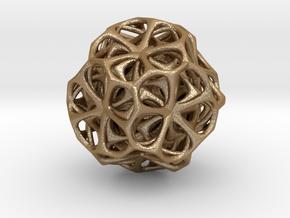 Jewel pendant1 in Matte Gold Steel