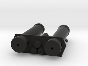 E-11 Power Cylinders v1.1 Profile C in Black Natural Versatile Plastic