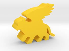Game Piece, Griffin in Yellow Processed Versatile Plastic