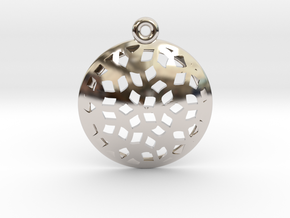 Pattern pendant in Rhodium Plated Brass