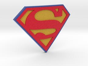 Superman Logo in Full Color Sandstone