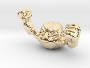 Geodude in 14k Gold Plated Brass
