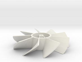 Fan Blades in White Natural Versatile Plastic