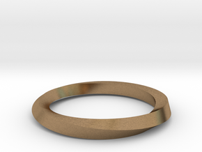 Mobius Band G in Natural Brass