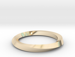 Mobius Band G in 14K Yellow Gold