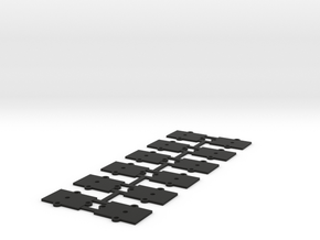 (12) O Gauge 1mm Shims  in Black Natural Versatile Plastic