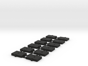 (12) O Gauge 3mm Shims in Black Natural Versatile Plastic