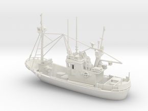 Fishingboat 01. 1:144 Scale in White Strong & Flexible
