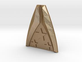 Mass Effect Systems Alliance pin in Matte Gold Steel
