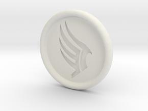 Mass Effect Paragon badge in White Natural Versatile Plastic