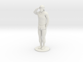 Female Soldier Salute in White Natural Versatile Plastic