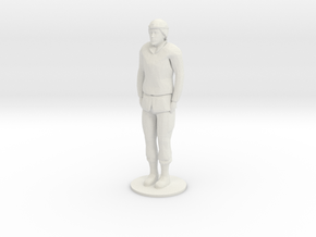 Female Soldier Standing in White Natural Versatile Plastic