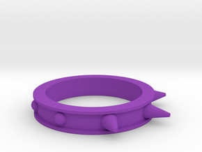 Spikes and Studs Ring in Purple Processed Versatile Plastic
