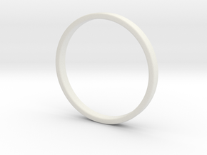 Ring For Cynthia size 7.5 2mm Wide 1.2mm Thick in White Strong & Flexible