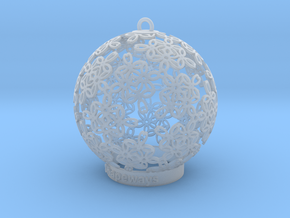 Flowers Ball Ornament in Smooth Fine Detail Plastic