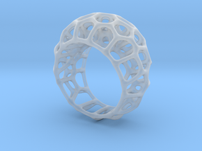 Voronoi Cell Ring  (Size 60) in Smooth Fine Detail Plastic