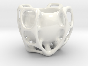 Molecule Sugar Bowl in Gloss White Porcelain
