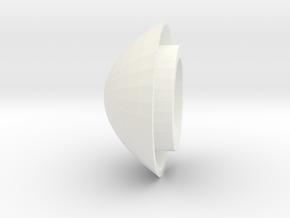Trache Cap For White Valve in White Processed Versatile Plastic