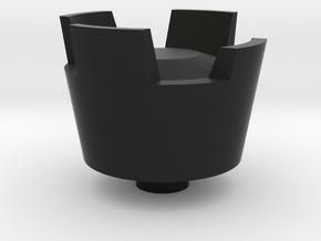 POV switch CASTLE F15 hat in Black Natural Versatile Plastic