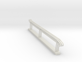 MOF Stair Rail 11 Step - 72:1 Scale in White Natural Versatile Plastic