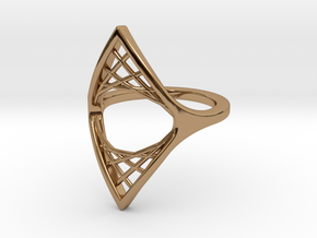 Parabolic Suspension Ring - US Size 09 in Polished Brass