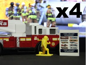 Level A Hazmat Tech, Kneeling x4, 1:64 Code 3 in Yellow Strong & Flexible Polished