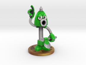 Axe Robot Green in Full Color Sandstone