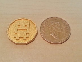 Turbo Buddy Coin in Polished Gold Steel