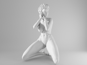 1/10 Sexy Girl Sitting 016 in White Strong & Flexible